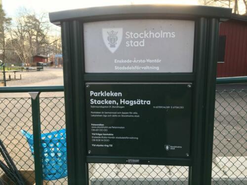 Infoskylt Stockholm stad