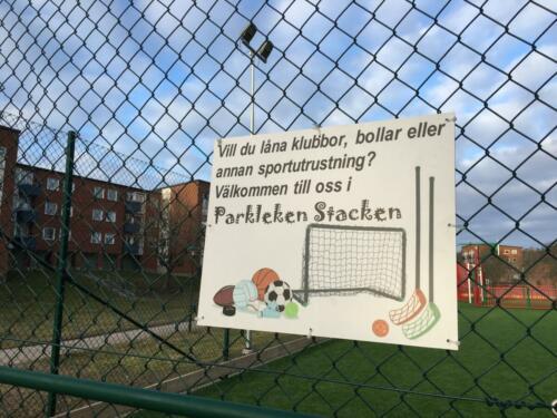 Multisportarenan skylt lÜna i Stacken